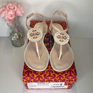 ☀️Tory Burch☀️NIB Miller Fringe Sandals Pink